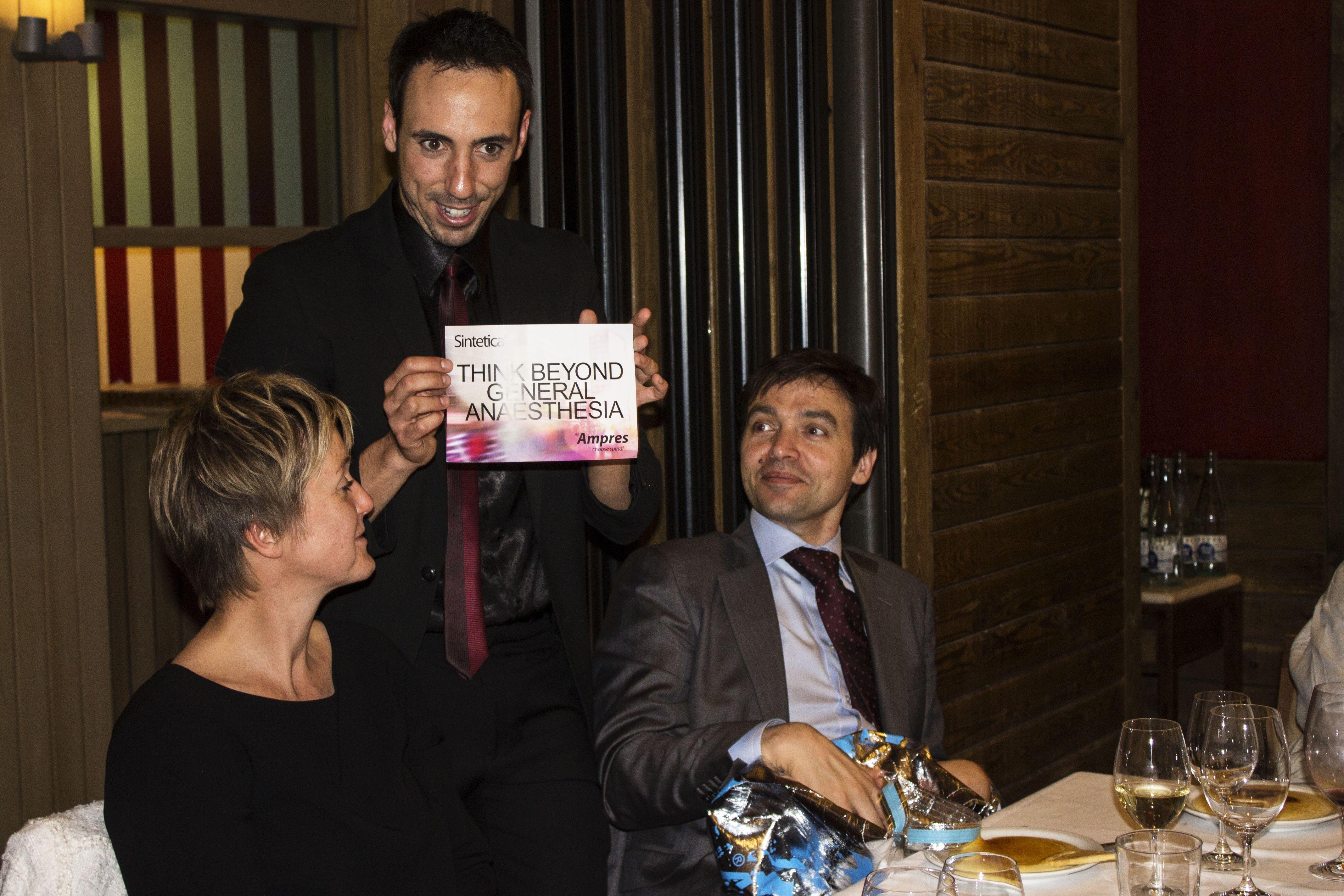 Evento realizado en el restaurante Barceloneta para la empresa suiza Sintetica. Magia de cóctel para los asistentes inspirada en los valores corporativos de la empresa.