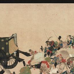 平治物語絵巻 六波羅行幸巻 鎌倉時代 俯瞰的視点 東京国立博物館 アイデアを描く 平治 日本画