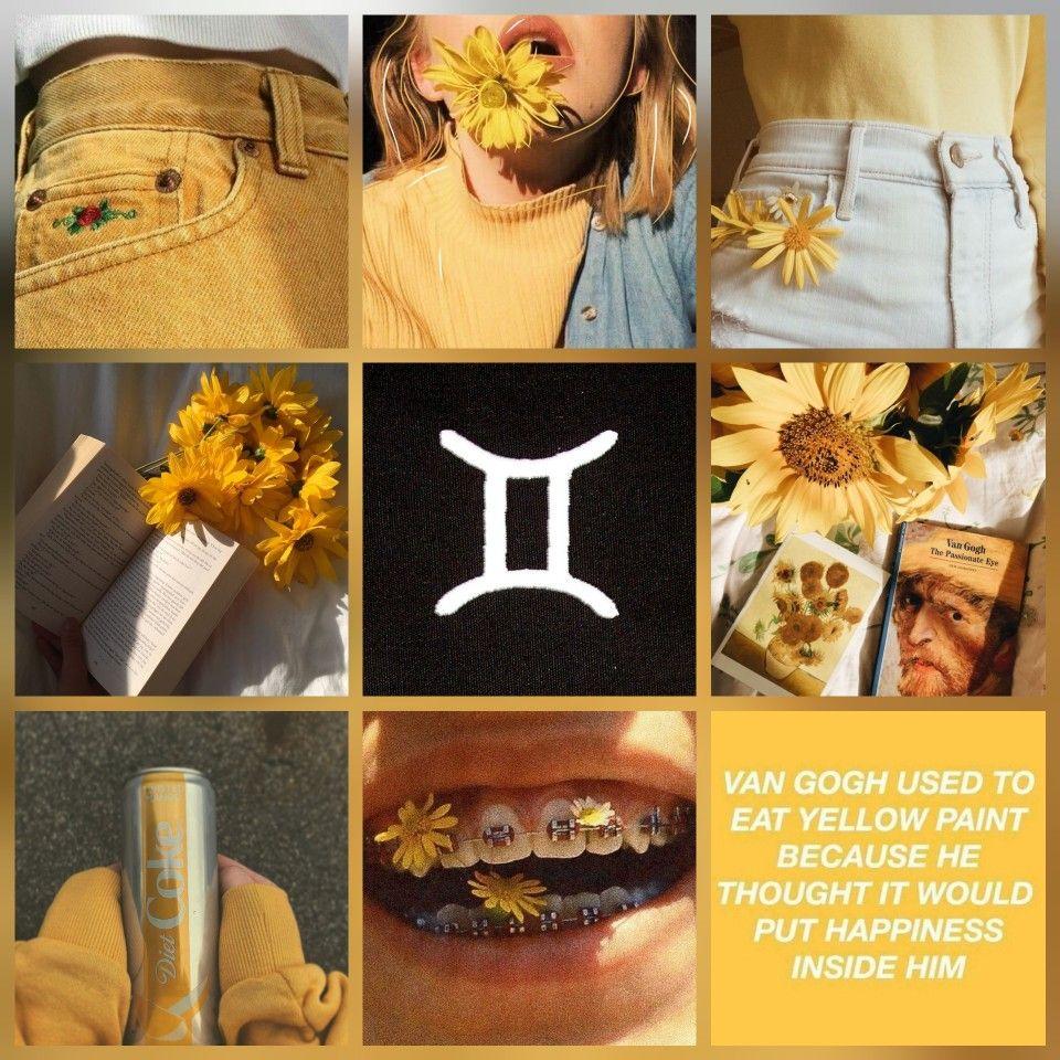 Gemini Aesthetic Yellow Is A Happy Colour Gemini Wallpaper Astrology Gemini Gemini