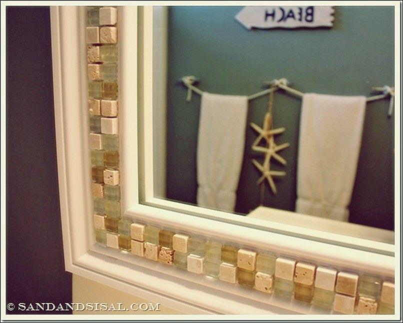 basteln mit spiegeln mit bildern  spiegel schmücken