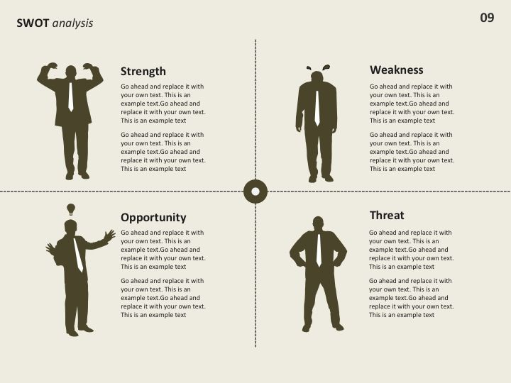 swot analysis- a tool that marketers use to assess an, Powerpoint templates