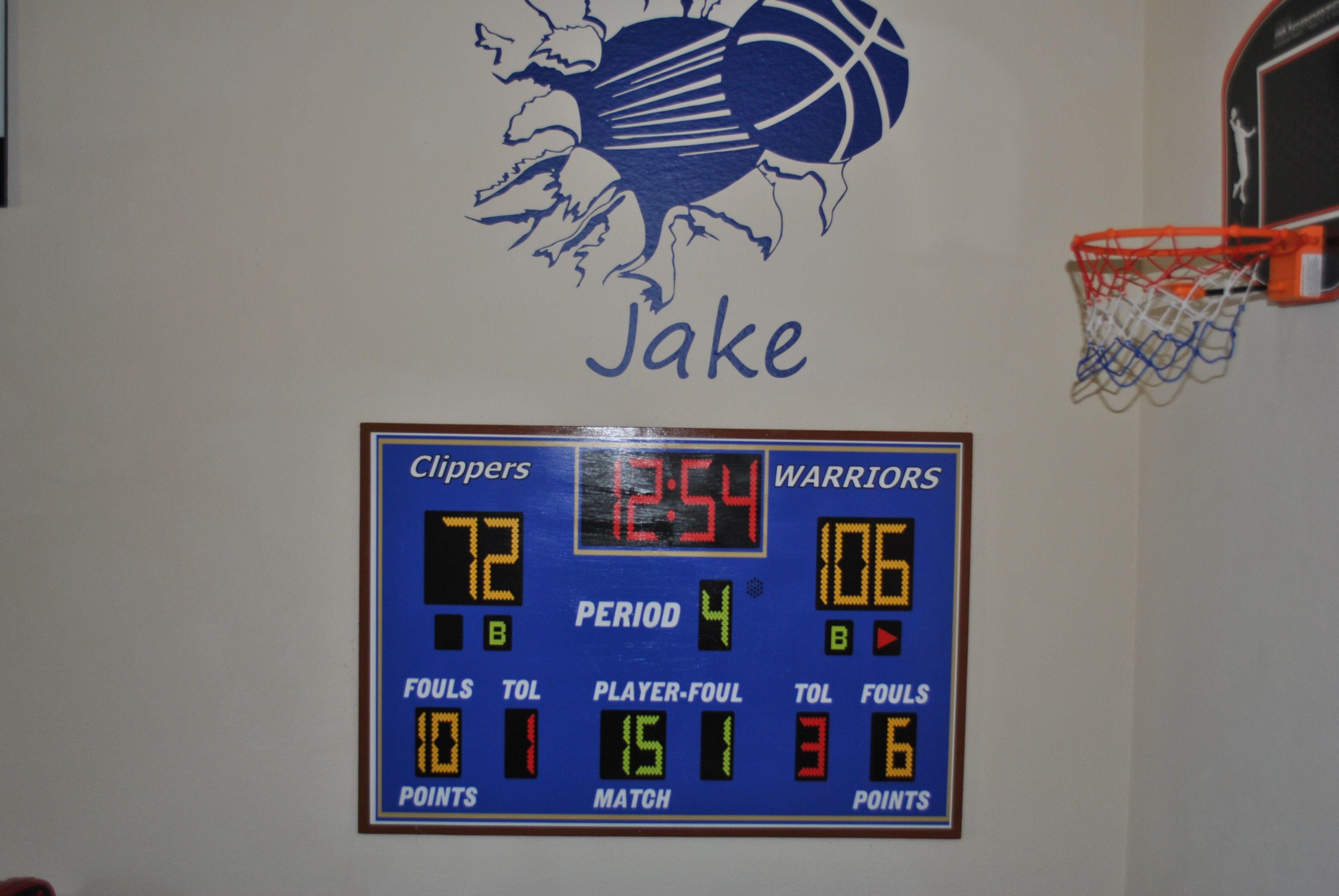 Golden State Warriors Bedroom Score Board Golden State Warriors Bedroom Basketball Room Basketball Bedroom