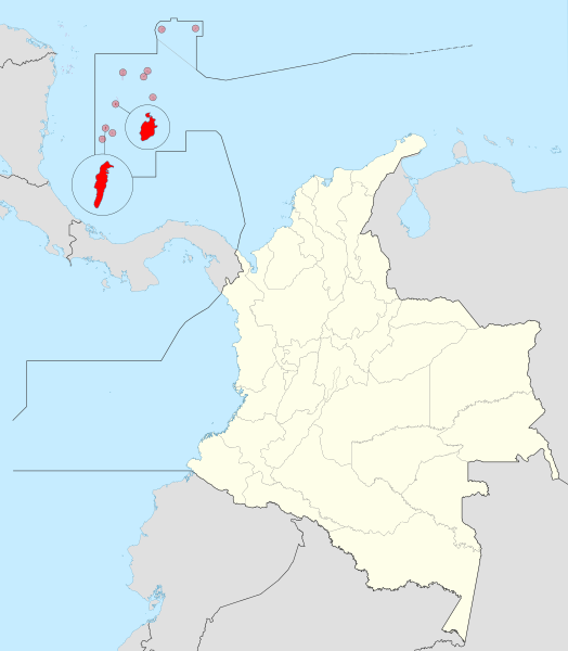 Map Of San Andres And Providencia Islands Colombia San Andres Colombia San