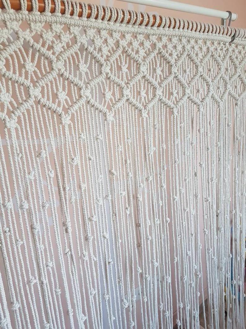 Rideau Pour Porte Fenetre macramé rideau grande, en macramé pour porte et fenêtre
