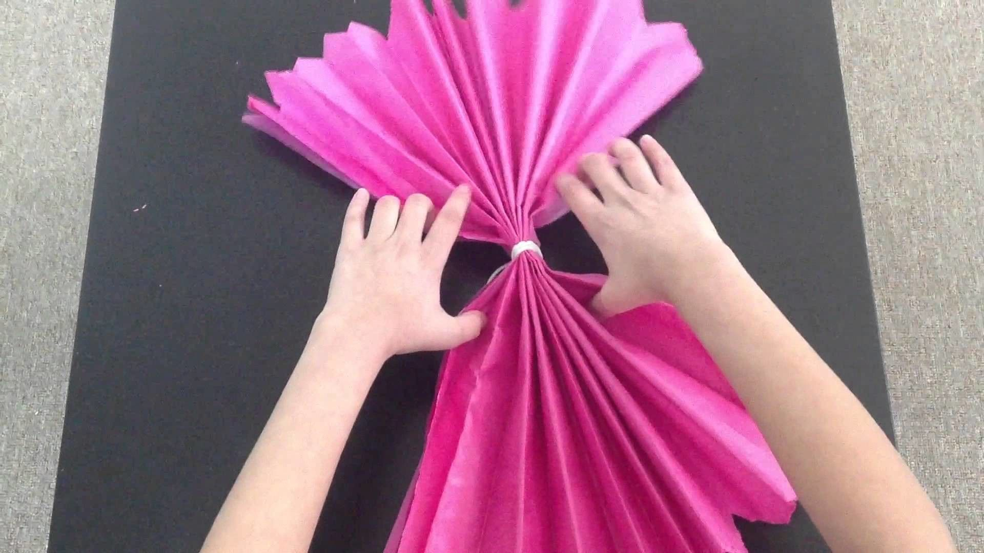 Diy Tissue Paper Flower Dont Forget To Check The Giveaway