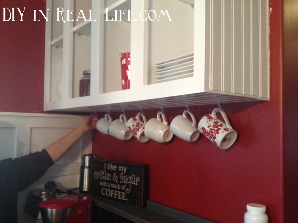 Hooks For Coffee Mugs To Hang Under Kitchen Cabinets Home Diy Home Loft Designs
