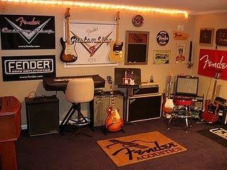 Fender Guitar Room Music Theme Ideas