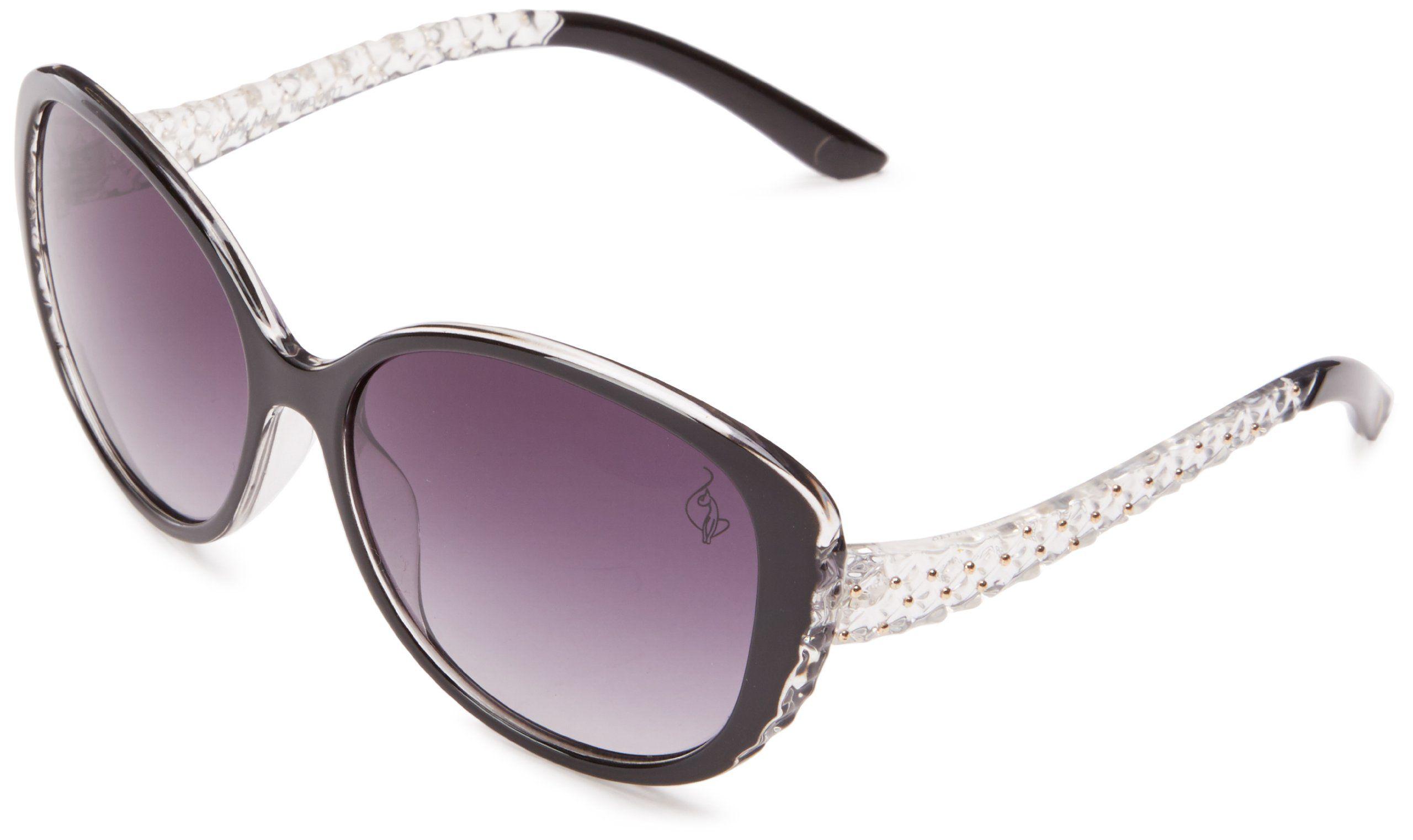 Amazon.com: baby phat 2077 Round Sunglasses,Black,58 mm: Clothing ...