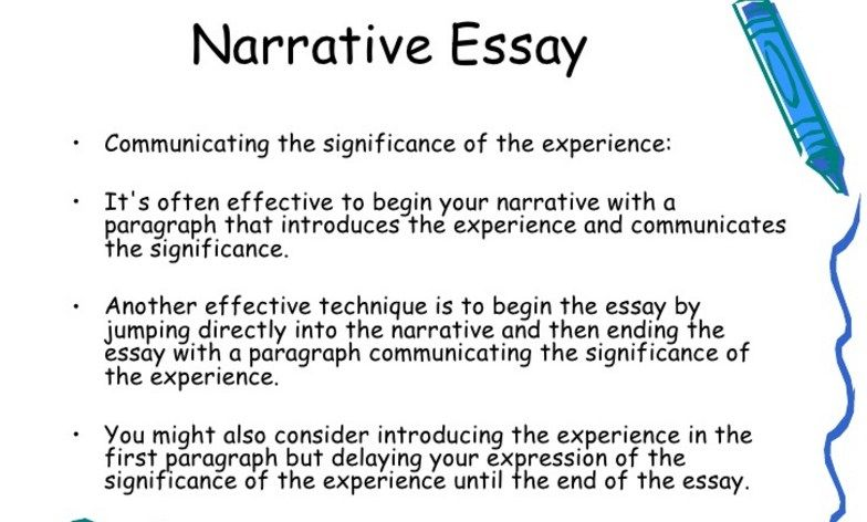 Nice How To Write A Narrative Essay And Get The Top Mark