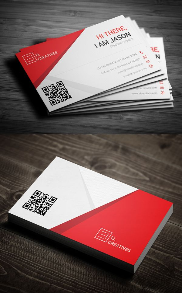 Modern Business Card Psd Templates Design Business Card Design Red Business Cards Business Card Design Creative