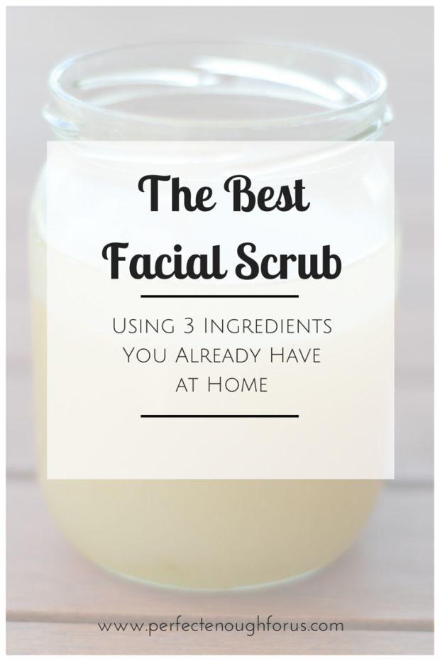 how to make facial scrub at home
