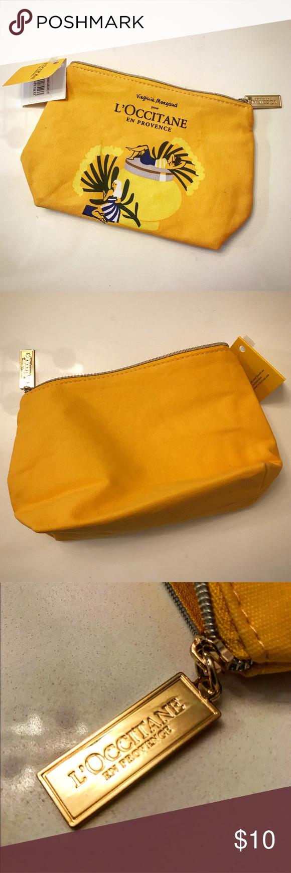 NWT L'Occitane Canvas Cosmetics Bag NWT Canvas cosmetic