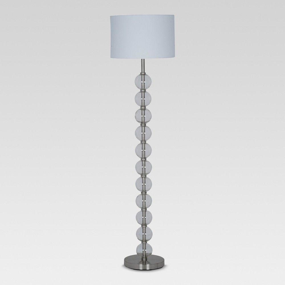 Glass Stacked Ball Floor Lamp Clear Lamp Only Project 62 Floor Lamp Energy Efficient Light Bulbs Lamp