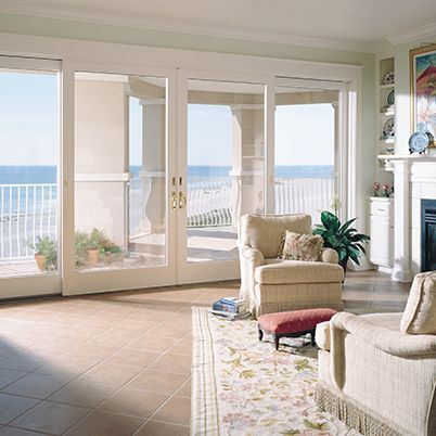 The Andersen 400 Series Frenchwood Sliding Patio Door Is Such A Elegant Edition To This Beach