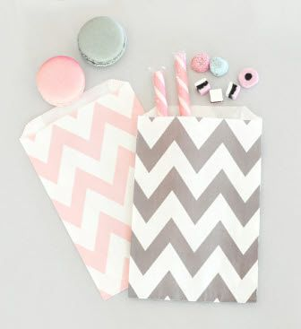 Chevron or Polka Dot Goodie Bags (Set of 12)