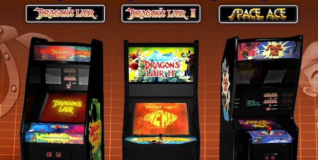 Dragon's Lair, Dragon's Lair 2 and Space Ace Arcade Machines