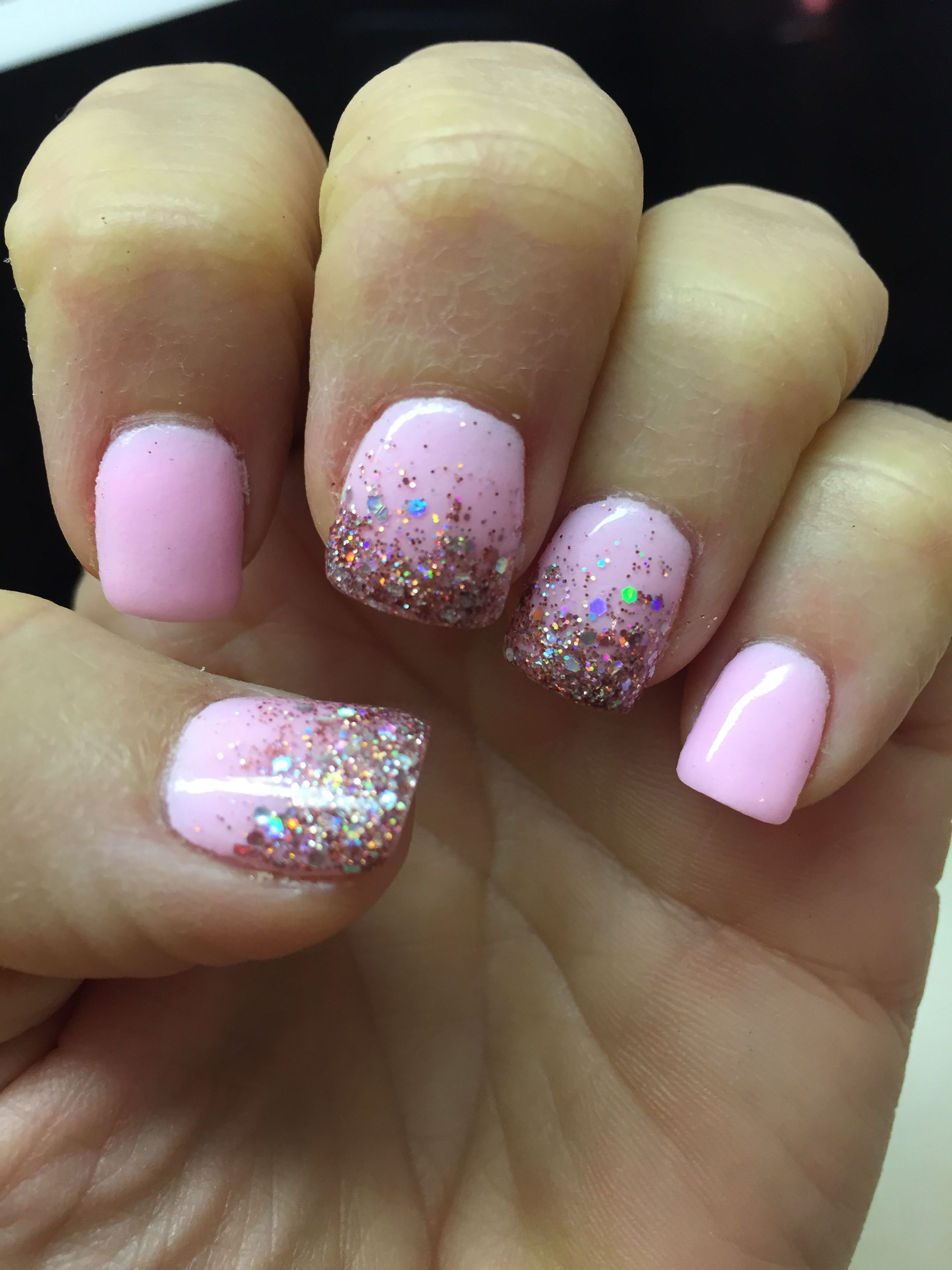 New Years nails glitter SNS | Nails | Pinterest