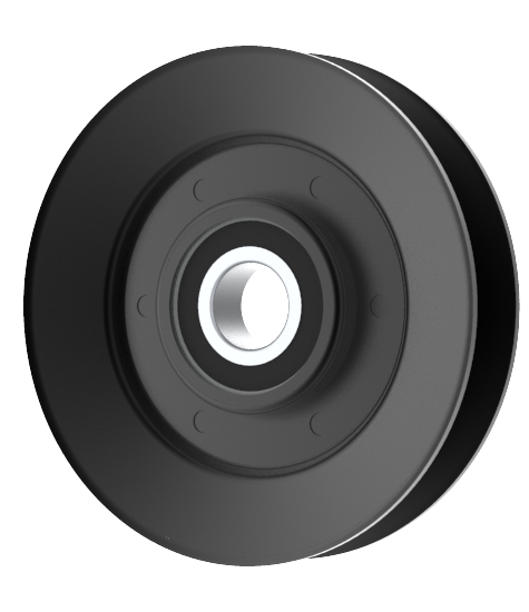 Turf Teq 100433 VGroove Idler Pulley 4'' Dia. 17mm