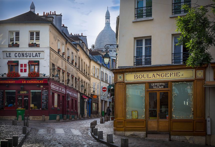 Montmartre is a hill (the butte Montmartre) which is 130 metres high, giving its name to the surrounding district, in the north of Paris in the 18th arrondissement, a part of the Right Bank. Montmartre is primarily known for the white-domed Basilica of the Sacré Cœur on its summit and as a nightclub district. The other, older, church on the hill is Saint Pierre de Montmartre, which claims to be the location at which the Jesuit order of priests was founded. Many artists had studios or worked…