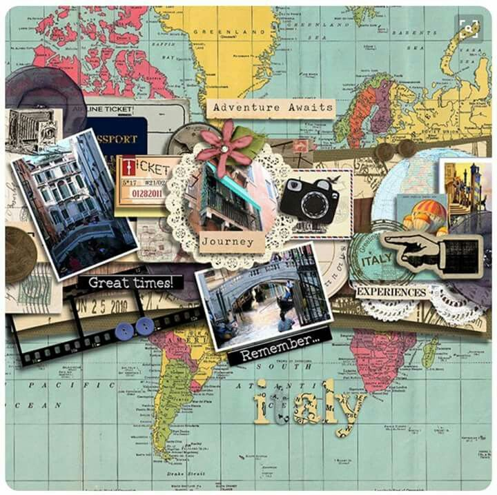 Travel page scrapbooking pinterest scrapbooking ideen ideen f r die hochzeit und fotobuch - Scrapbook ideen ...