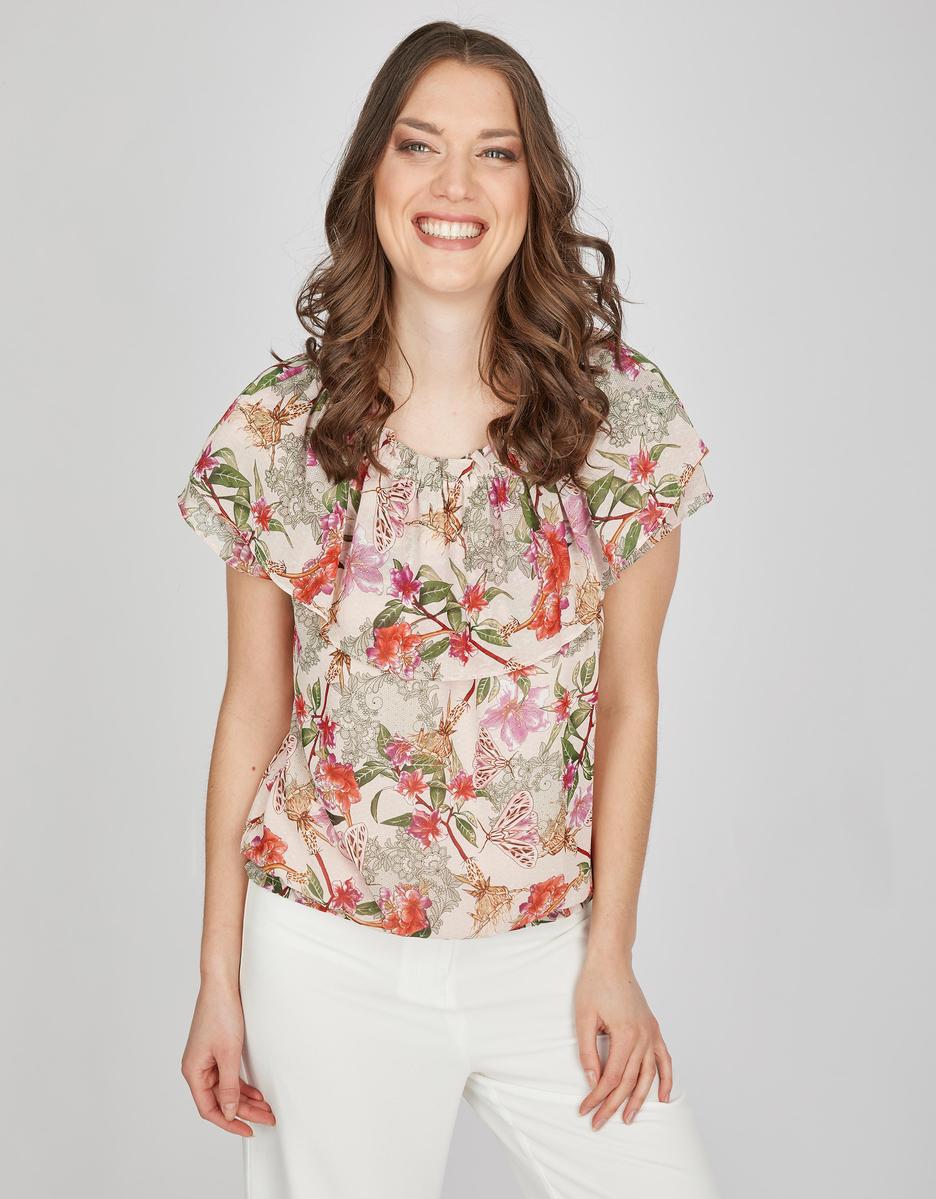 Viventy Shirtbluse Aus Chiffon In 2020 Shirt Bluse Bluse Floral Tops
