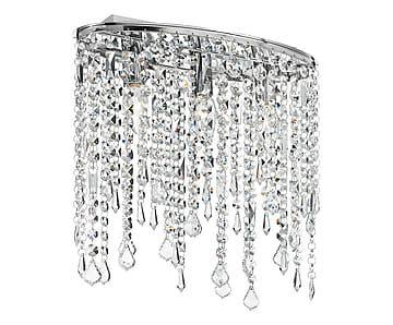 Plafoniera a 3 luci in metallo e vetro Breeze - 36x40x25 cm