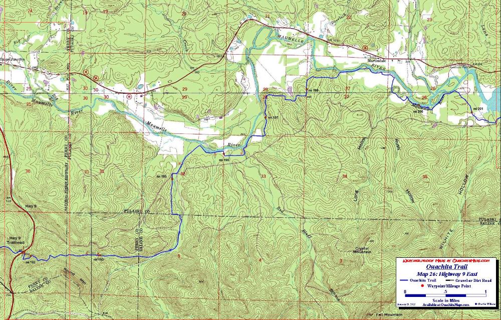Ouachita Trail Maps