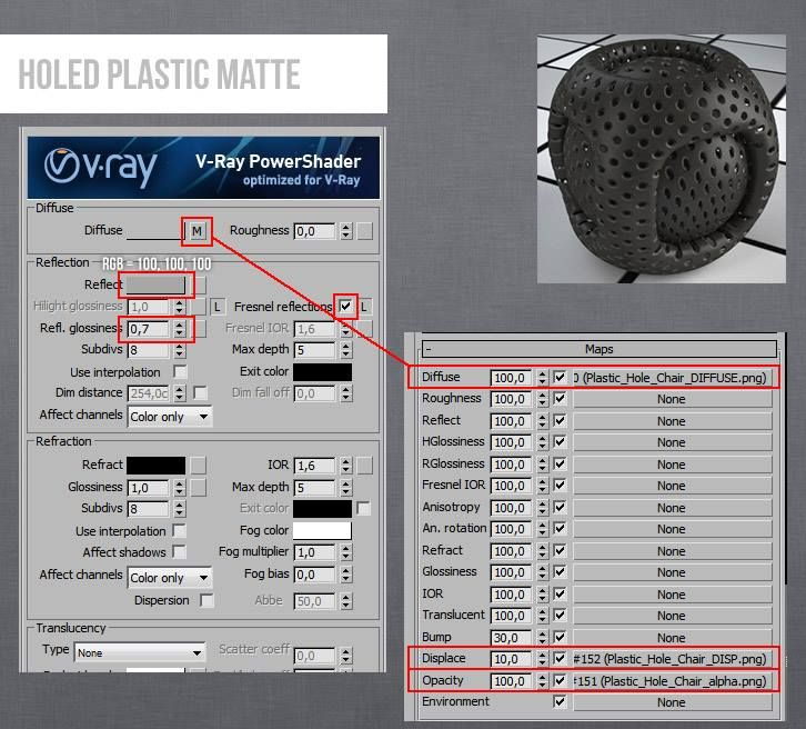 Vray Plastic Holed 3DS Max Material | V-ray Material in 2019 | 3ds