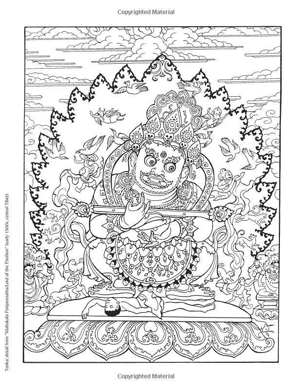 Tibetan Designs Kleurboek Kleuren Kleurplaten