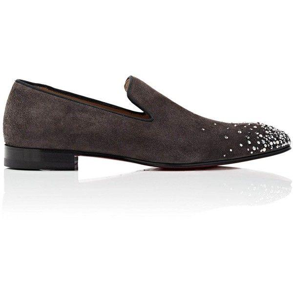 Mens Dandelion Degra Flat Suede Venetian Loafers Christian Louboutin Azs9zABc