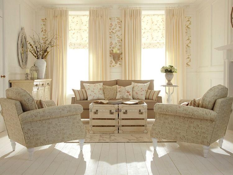 Shabby chic style 55 id es pour un int rieur romantique Rideaux style cottage