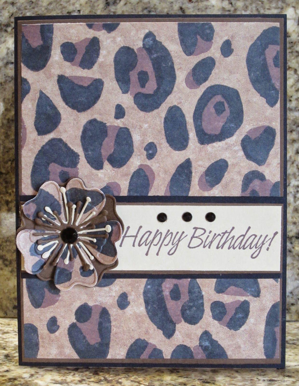 Leopard Print Birthday Card