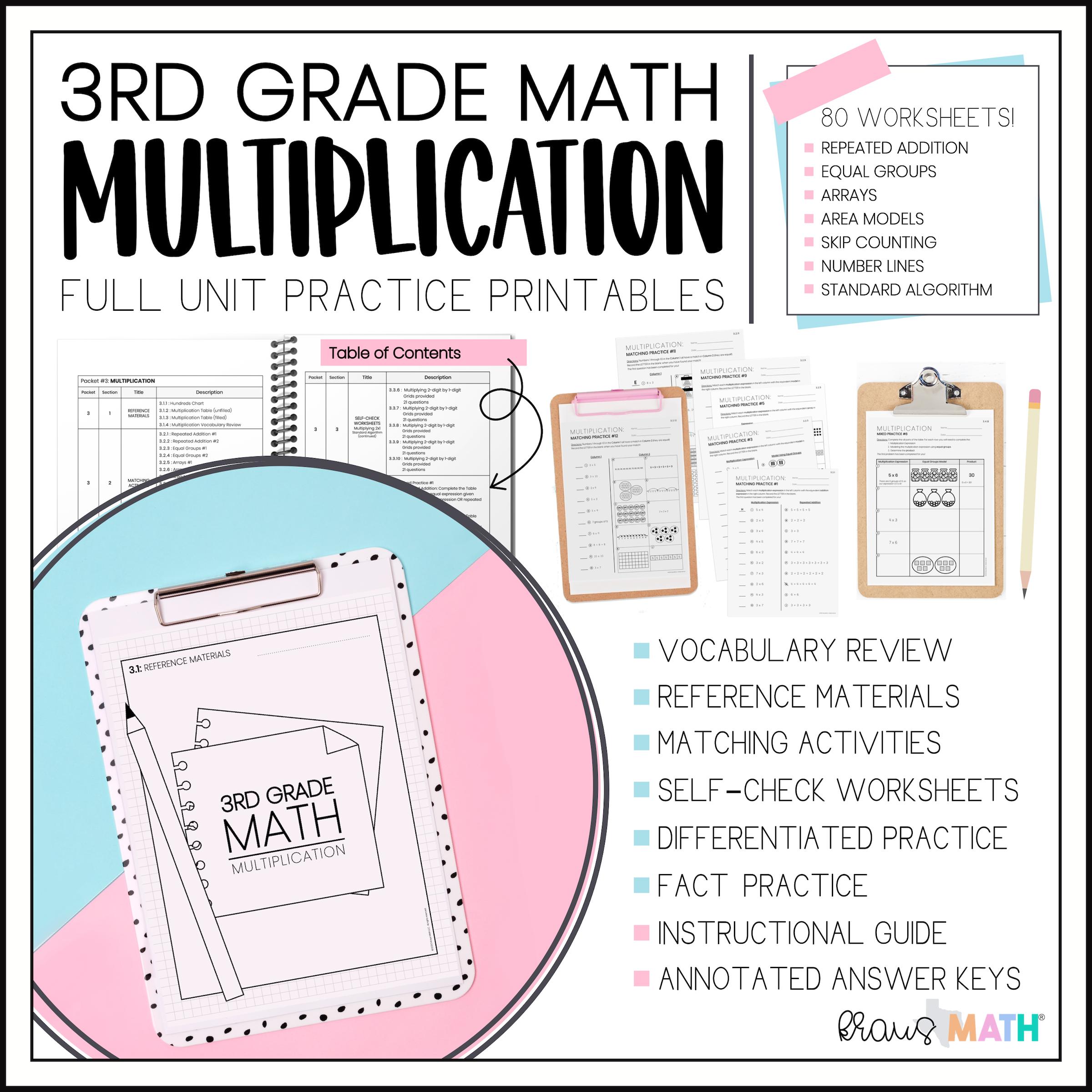 3rd Grade Math Packet 3