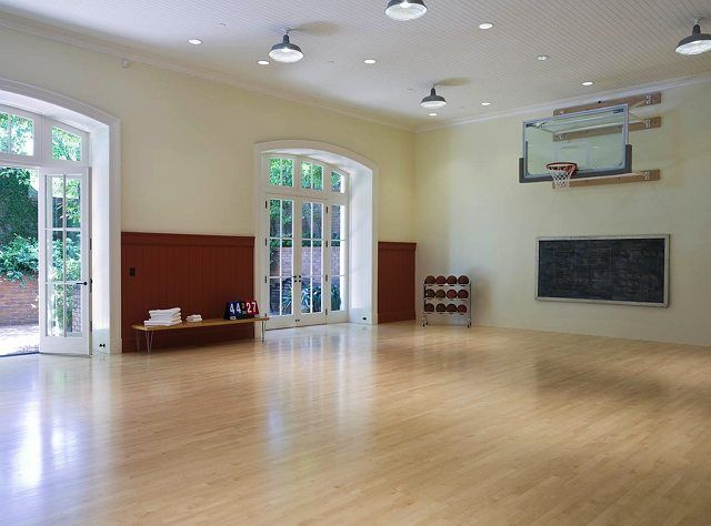 Indoor basketball court love the doors this would for Home plans with indoor sports court