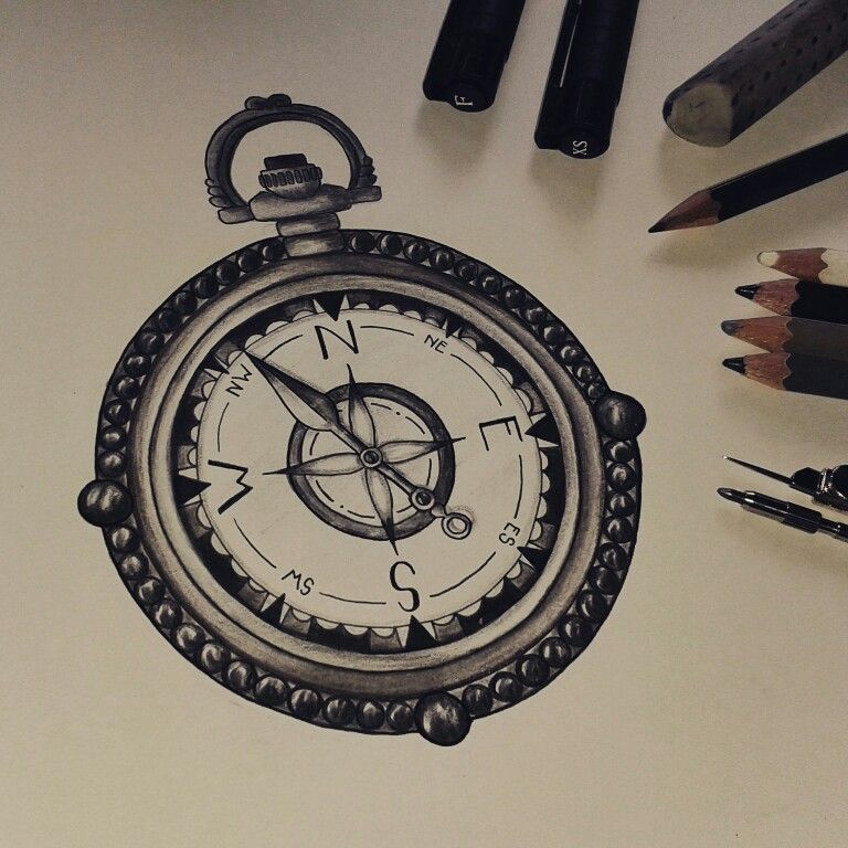 Tattoo Drawing Realistic Compass Black And White Vintage By Phenix Vintage Compass Tattoo Vintage Drawing Compass Drawing