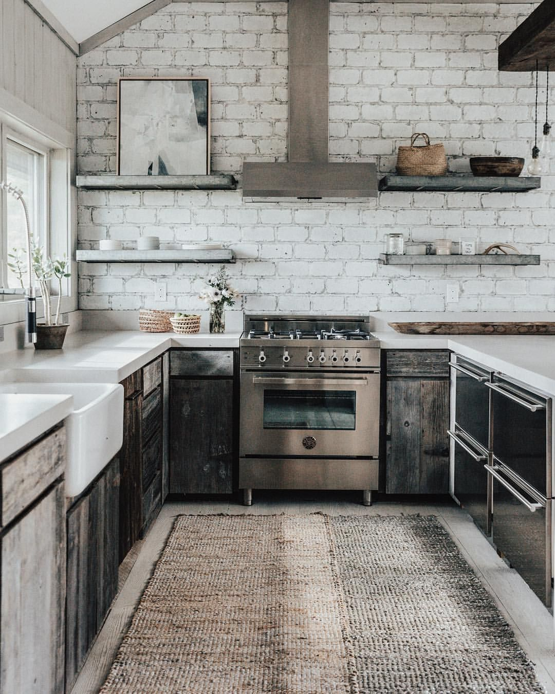 Le Roux Kitchen: Rustic Kitchen. Are Those Galvanized Metal Shelves
