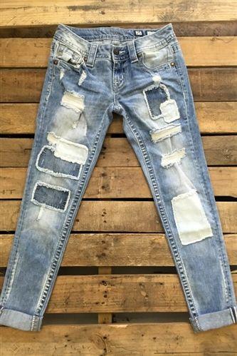 Miss Me Patch Cuffed Skinny Jeans in 2020 | Cuffed skinny ...