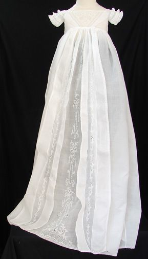 Circa 1800s Ayrshire Christening Gown W Boteh Design