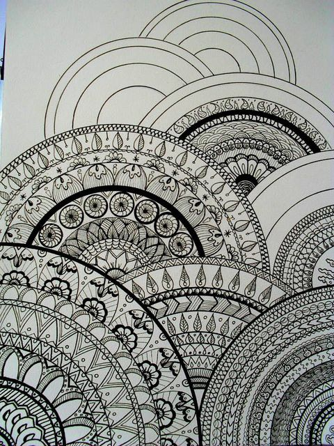 all sizes my drawings inspired zentangle this would