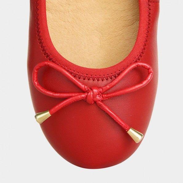 "Rote Ballerinas ""Rubra"" www.morenamorena.com/de"