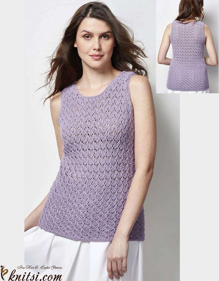 Vest top knitting pattern free   Free knitting patterns   Pinterest ...