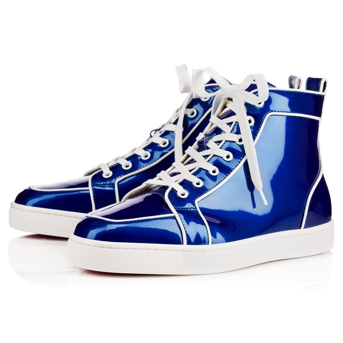 c9d2fb8663ee CHRISTIAN LOUBOUTIN Rantus Orlato Men S Flat Blue Latte Glossy Patent - Men  Shoes - Christian Louboutin.  christianlouboutin  shoes