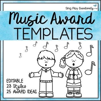 Music Class Awards with Editable Templates for Concerts, Awards - award templates