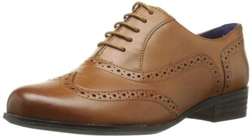 Shoe Brogue Oak Dark Hamble 5 Women's Leather 5 Tan Clarks Classic q8RPx