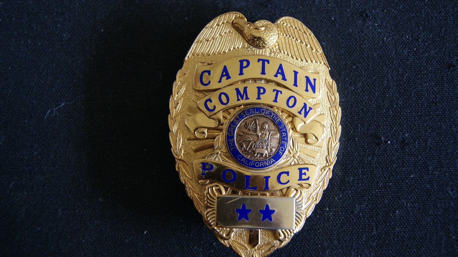 Police cap badges ga rel hat badges page 1 garel - Compton California Defunct Agency Compton Police Captain Police Badge Obsolete