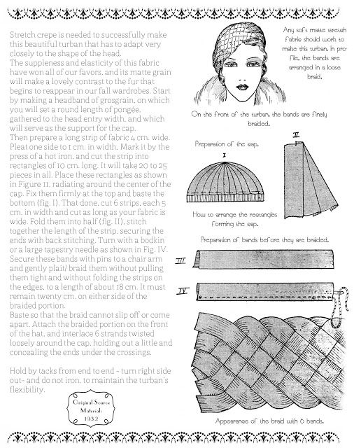 A Few Threads Loose: A Free French Turban Pattern from 1932 ...