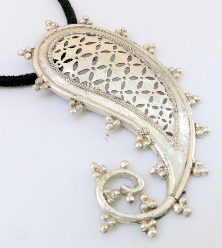 925 sterling silver Mango Paisley shape pendant necklac | eBay