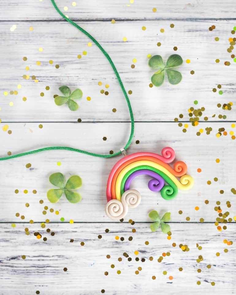 Polymer Clay Rainbow Necklace Tutorial