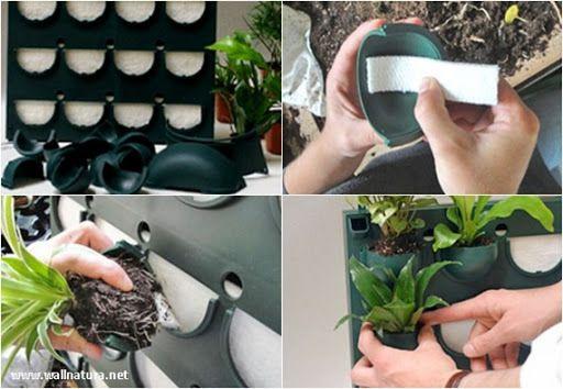 jardin vertical interior casero - Buscar con Google Jardín