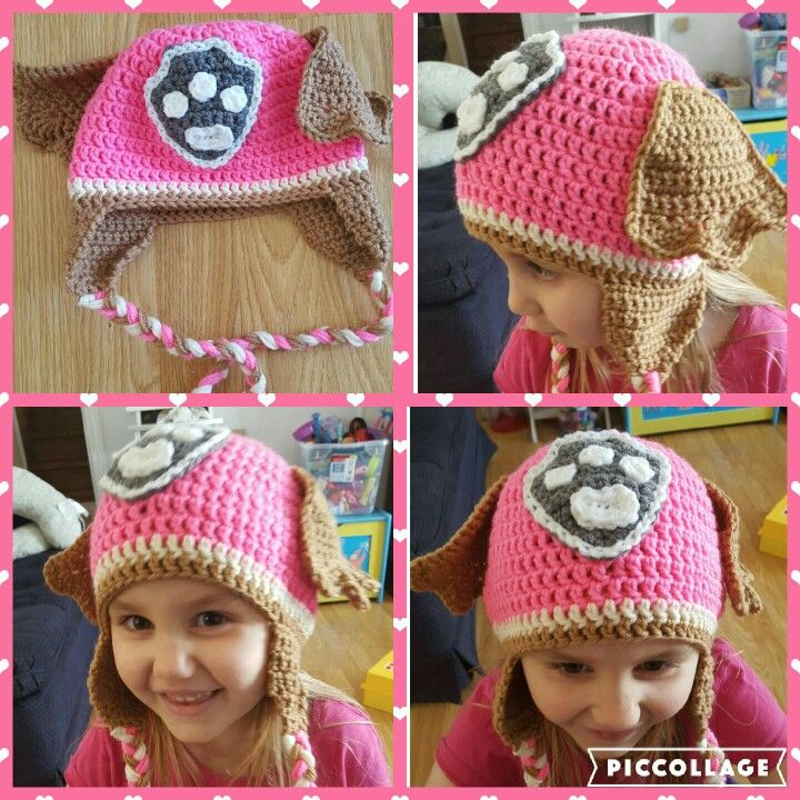 Paw Patrol Skye crochet earflap beanie | Comfy/Cozy/Warm | Pinterest ...